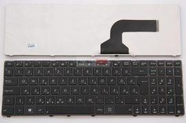 Asus K52 K53E K53SC K53SD K72 K73 X52 X53 UL50 X64 X72 N61 A53 A73 N71JV Fekete keret fekete billentyűzet