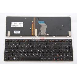 Lenovo IdeaPad Y580 világítós, fekete keretes magyar billentyűzet, GYÁRI ÚJ
