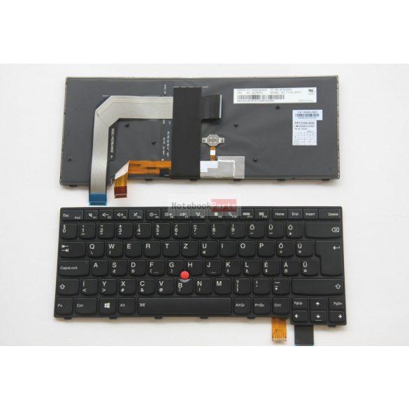 Lenovo Thinkpad T460p T470p Háttérvilágításos Magyar fekete billentyűzet