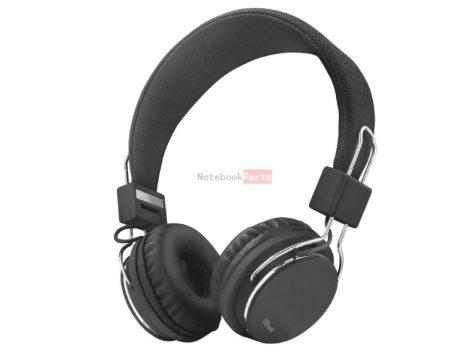 Trust Ziva összehajtható fekete headset