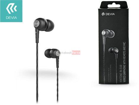 Devia ST310430 Kintone Eco fekete fülhallgató headset
