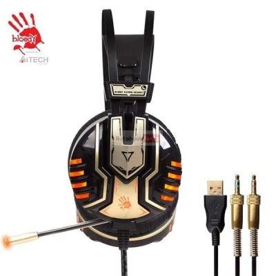 A4-Tech Bloody G610 narancssárga led sztereo USB gamer headset