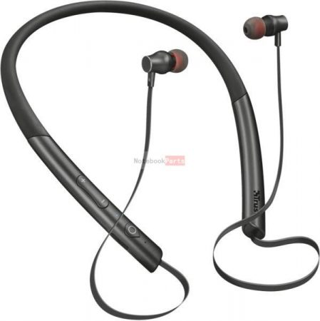 Trust Kolla Neckband-style Bluetooth wireless fekete headset