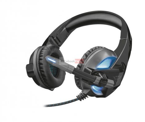 Trust GXT 410 Rune Illuminated fekete gamer headset