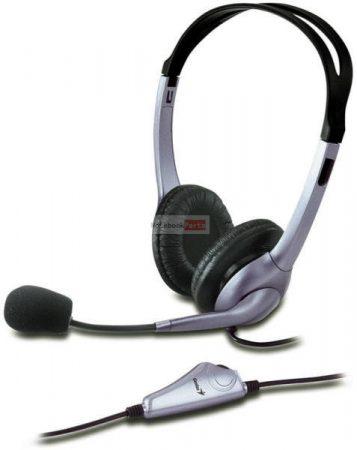 Genius HS-04S single-jack fekete headset