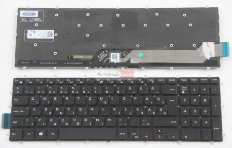 Dell Inspiron 5565 5567 5570 5575 5665 5765 5767 5770 5775 7566 7567 7577 7773 7778 7779 Vostro 15 5568 fekete laptop billentyűzet háttérvilágítással