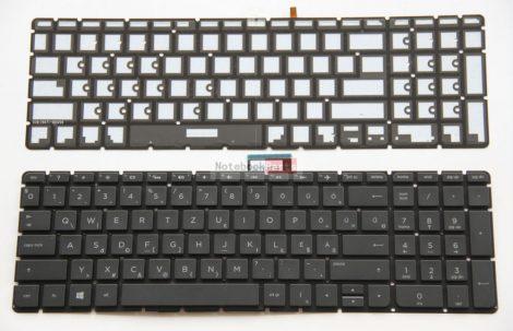 HP Pavilion 15-ab 15-au 15-bc 15-bk, Envy M7-N fekete laptop billentyűzet háttérvilágítással