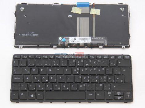 HP Pro x2 612 G1 fekete laptop billentyűzet háttérvilágítással