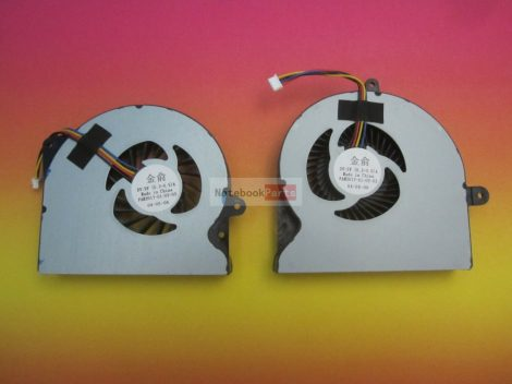 ASUS G751 G751J G751M G751JT G751JY G751JL L + R 4PIN CPU laptop ventilátor